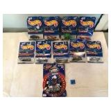 9 Assorted Hot Wheels and 1 Nascar Dale Earnhardt