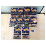 10 Assorted Hot Wheels Collectible Cars