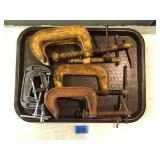 """Lot Of C-Clamps 3"""" & 4"""" Standard"""