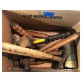 Box of Hammers & Mallets
