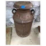 Vintage Metal Milk Can (Rusty)
