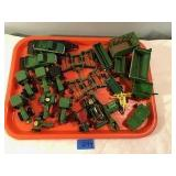 Assorted Metal Tractors, Trucks, Farm Vehicles