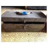 Vintage Metal Toolbox With Lift Out Tray