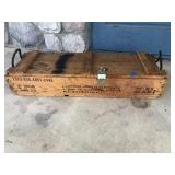 Vintage Ammo Box For Howitzer