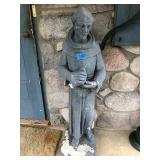 St Francis Cement Garden Statue Holding Bird