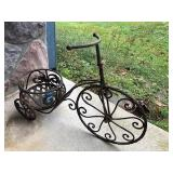 Metal Bicycle Garden Planter
