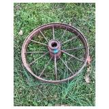 Rusty Metal Wagon Wheel