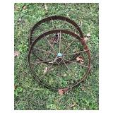 "Pair of Wagon Wheels (29"")"