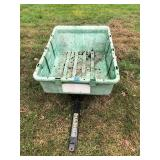 Green Plastic Garden Cart