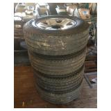 "Four 18"" Firestone Transforce Tires For Dodge"