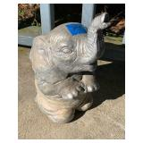 "Concrete Elephant Yard Ornament 13""H"