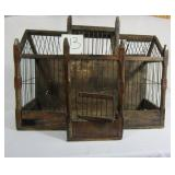 "Antique Bird Cage - 22"" x 12"" x 16.5"" - Ornate"