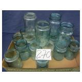 18 Blue/Green Ball-Mason Pint Jars