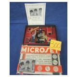 Microset  Microscope w/ org papers & box
