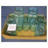 14 Blue/Green Ball Pint Jars