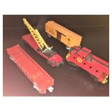 Four Lionel O Gauge freight Cars