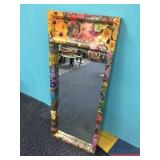 FLORAL DECOUPAGED MIRROR
