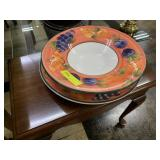 Italian Pasta Bowl and Under Plate