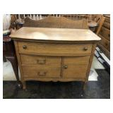 Antique Bow Front Wash Stand, No Towel Bar