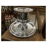 Silver Plated Champaign Cooler, Import by Gorham