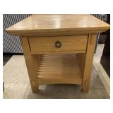 American Signature Mission Style End Table