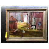 Rustic Frame Oil on Canvas