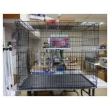 """Large Collapsible Dog Cage, 54x36x45"""", Damage on"""