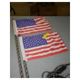 LED Lighted American Flags
