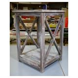 """Rustic Distressed End Table 16x17x24"""""""