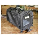 Rolling Collapsible Pet Carrier, Black