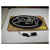 """LED Open Sign, 19x10"""", with Power Cable"""
