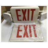 Emergency Exit light LED battery operated/ac