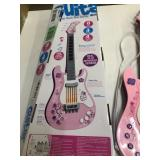 Battery operated childs guitar