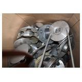 Box of hubcap center caps