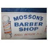 Huge Barbershop Sign Hand Painted 4