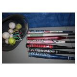 Softball bats n balls