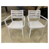 Melissus white outdoor dining chair