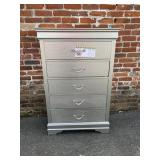 5 Drawer Silver chest