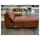 Leather Sectional piece Chaise Lounge only