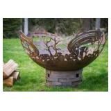 Cedar Creek Sculptures Salmon Fire Pit
