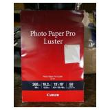 "50 Sheets of 13""x19"" Canon Luster Photo Paper"