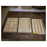 3 Piece Gold Jewelry Organizers