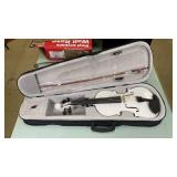Artall White Violin in Case