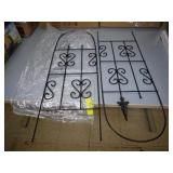"Two 36"" Metal Garden Trellises"