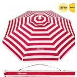 Movtop 6.5 ft. Striped Beach Umbrella