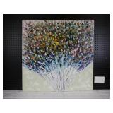 Oil on Canvas Reproduction Floral Abstract
