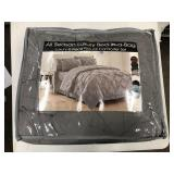 King Size Gray 8-Piece Pintuck Comforter Set
