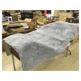 Gray Faux Fur Area Rug, Approx 90x60""