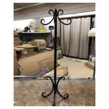 "Black Metal Stand, 32"" Tall"