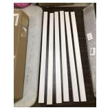 Set of 6 Plastic Cable Concealers, White,